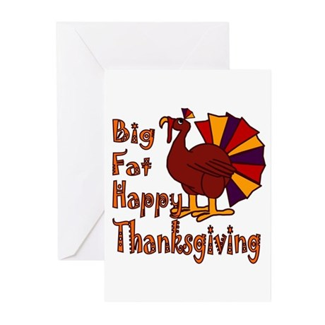 Big Fat Happy Thanksgiving Greeting Cards (Pk of 2