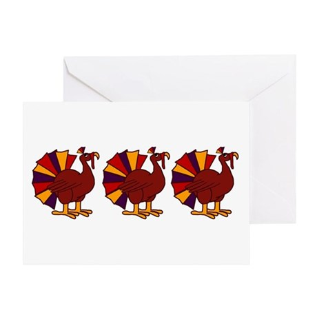 Thanksgiving Turkey Trio Greeting Card