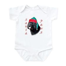 Santa Paws black Newf Infant Bodysuit