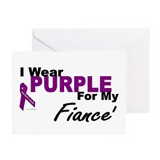 I Wear Purple For My Fiance' 3 (PC) Greeting Cards