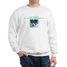 Sleeps with Rat Terriers Sweatshirt