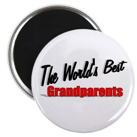 """The World's Best Grandparents"" Magnet"