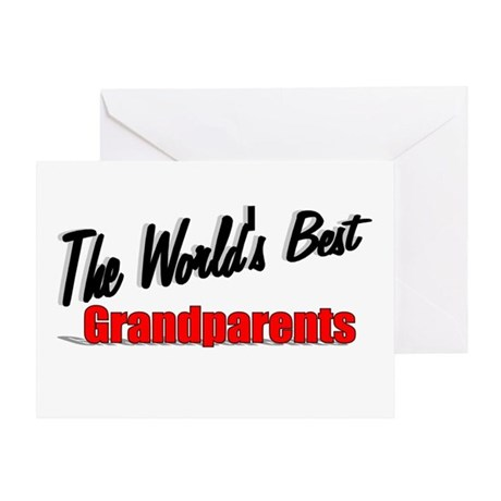 """The World's Best Grandparents"" Greeting Card"