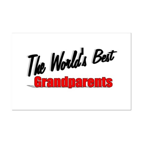 """The World's Best Grandparents"" Mini Poster Print"