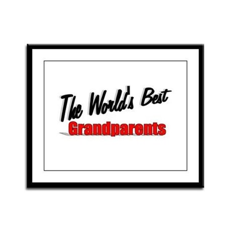 """The World's Best Grandparents"" Framed Panel Print"