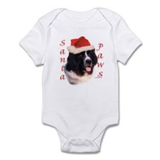 Santa Paws landseer Newf Infant Bodysuit