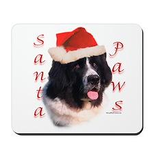 Santa Paws landseer Newf Mousepad
