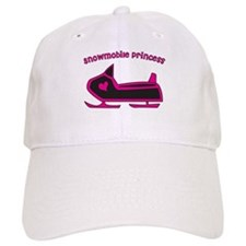 """Snowmobile Princess"" Baseball Cap"