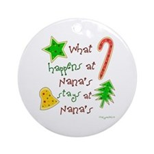 """Christmas at Nana's"" Ornament (Round)"