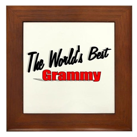 """The World's Best Grammy"" Framed Tile"