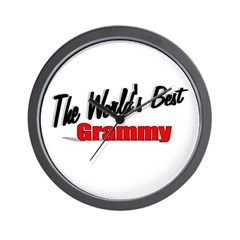"""The World's Best Grammy"" Wall Clock"