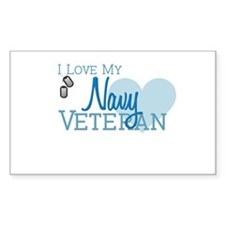 Navy Veteran Rectangle Decal