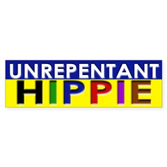 Unrepentant Hippie (bumper sticker)