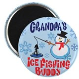 Grandpa's Ice Fishing Buddy Magnet
