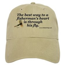 """The Way to a Fisherman's Heart"" Ball Baseball Cap"