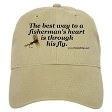 """The Way to a Fisherman's Heart"" Ball Cap"