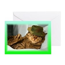 Unique Cat with an attitude Greeting Cards (Pk of 10)