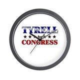TYRELL for congress Wall Clock