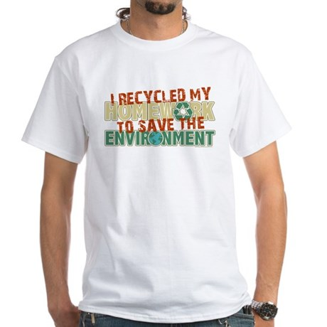Recycled Homework White T-Shirt