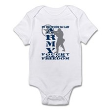 Bro-n-Law Fought Freedom - ARMY  Infant Bodysuit