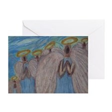 Six Angels Praying Greeting Cards (Pk of 20)