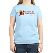 Blessed are the peacemakers Women's Pink T-Shirt