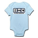 Eat, Sleep, Snowboarding Infant Bodysuit