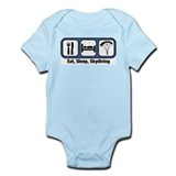 Eat, Sleep, Skydiving Infant Bodysuit