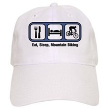 Eat, Sleep, Mountain Biking Baseball Cap