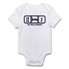 Eat, Sleep, Mens Volleyball Infant Bodysuit