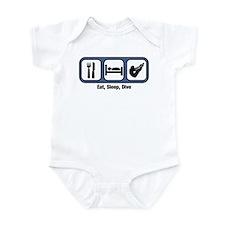 Eat, Sleep, Mens Diving Infant Bodysuit