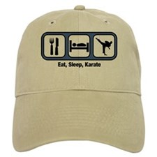 Eat, Sleep, Karate Baseball Cap