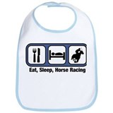 Eat, Sleep, Horse Racing Bib