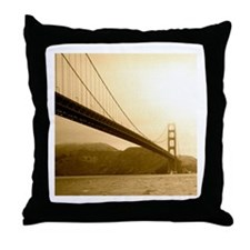 Golden Gate Bridge Vintage Photo Throw Pillow