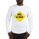 Baby Finally on Board Long Sleeve T-Shirt
