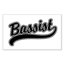 Bassist Rectangle Decal