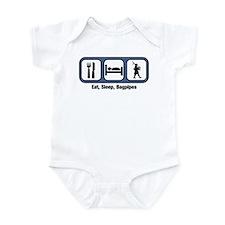 Eat, Sleep, Bagpipes Infant Bodysuit