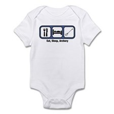 Eat, Sleep, Archery  Infant Bodysuit