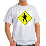Pregnant Mother Crossing Ash Grey T-Shirt