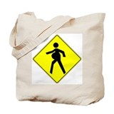 Pregnant Mother Crossing Tote Bag