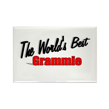 """The World's Best Grammie"" Rectangle Magnet"
