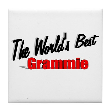 """The World's Best Grammie"" Tile Coaster"