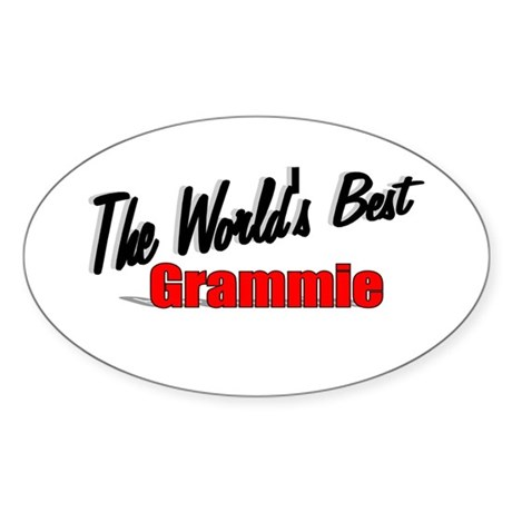 """The World's Best Grammie"" Oval Sticker"