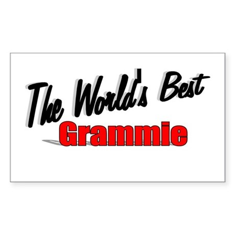 """The World's Best Grammie"" Rectangle Sticker"