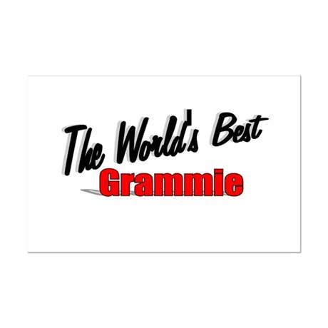 """The World's Best Grammie"" Mini Poster Print"