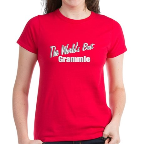 """The World's Best Grammie"" Women's Dark T-Shirt"