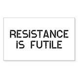 Resistance Futile Decal