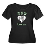 Cat Lovers Womens Plus Size Neck Dark T-Shirt