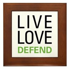 Live Love Defend Framed Tile