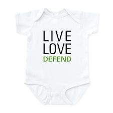 Live Love Defend Infant Bodysuit